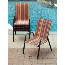 Patio Stack Chairs Essential Garden Bartlett Stripe Stack Chair Outdoor Living