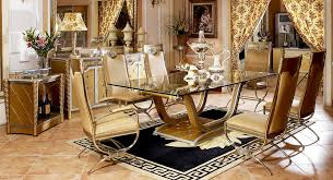 Quality Dining Room Tables High Quality Import Glass Table Top Luxury New Classical Style