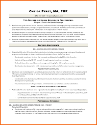 Sample Resume Of Hr Generalist by 10 Hr Generalist Resume Credit Letter Sample