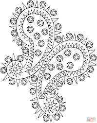 paisley pattern coloring pages coloring home
