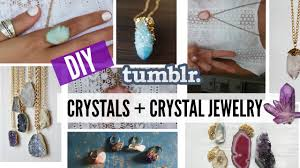 jewelry crystal necklace images Diy tumblr crystals crystal jewelry jpg