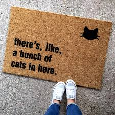 Humorous Doormats The Original Bunch Of Cats In Here Doormat