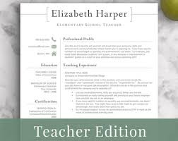 Faculty Resume Sample by Teacher Resume Etsy