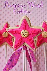 munchkin munchies princess wand cookies for a virtual baby shower