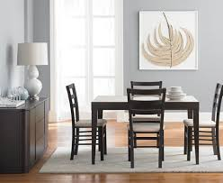 Cafe Dining Table And Chairs Café Latte 5 Dining Set Glass Top Dining Table And 4