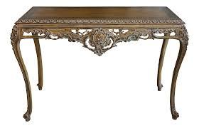 hand carved sofa table chairish