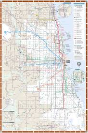 Map Chicago Chicago Detailed Rail Transport Map U2022 Mapsof Net