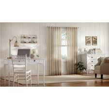 Home Decorators Home Decorators Collection Semi Opaque Taupe Faux Linen Polyester