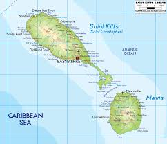 Physical Map Of North America by Maps Of Saint Kitts And Nevis Map Library Maps Of The World