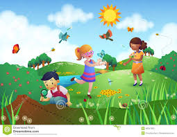 clipart garden with children clipart panda free clipart images
