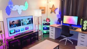 home office with tv epic home office setup tour late 2017 w lg super uhd nano cell