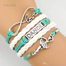 leather wrap bracelet with charm images Infinity love dance bracelet dancer charm wrap bracelets leather jpg
