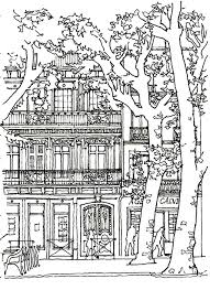 architectural house architecture house tree architecture and living coloring pages