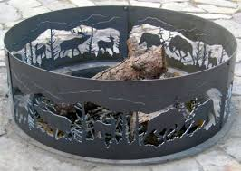 Firepit Ring Fighting Elk Ring
