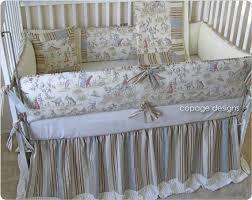 Circus Crib Bedding Baby Bedding Topsy Turvy Circus Toile Baby Crib Bedding 4 Pc