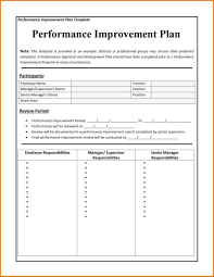 performance improvement plan template word sop format sample