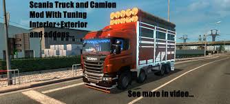 scania truck scania 8 4 camion and truck addons ets 2 mods euro truck