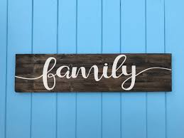 home decor family signs family sign family wood sign living room decor family