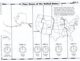 United States Time Zone Map by Monday April 14 2014