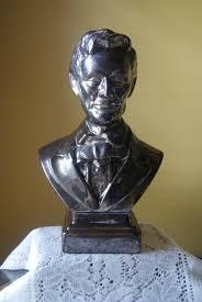 halloween ceramic molds vintage figural bust abraham lincoln ceramic mold bronze glaze