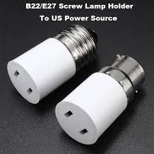 light socket outlet adapter l base b22 e27 socket l base holder converter to us power