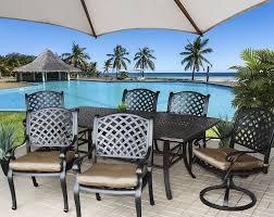 Cast Aluminum Patio Furniture Sets - cast aluminum patio dining set with rectangular table ultimate