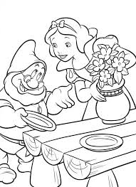 photo snowwhite colouring 001 colouring pages album animation