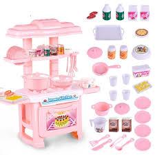 cuisine fille jouet efhh en plastique simulation vaisselle cuisine fille jouet bleu