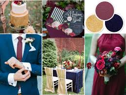 wedding colors fall wedding colors navy wine and gold