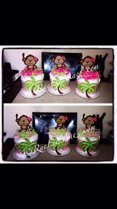 Baby Monkey Centerpieces by Monkey Diaper Cake Minis Baby Monkey Baby Shower Or