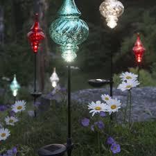 garden best solar yard lights solar umbrella string lights home