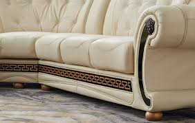 apolo sectional ivory leather sectionals living room furniture