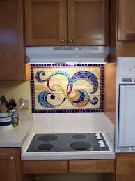 mosaic glass backsplash kitchen stained glass backsplash home improvement area