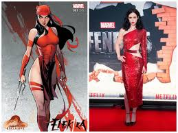 Elektra Halloween Costume Krysten Ritter U0027s Red Dress U0027s Cosplaying
