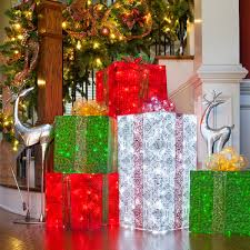 pre lit christmas gift boxes ravishing christmas gift box decorations interesting where to