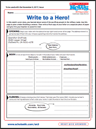 Thank You Letter Veterans veterans day writing activity thank a scholastic