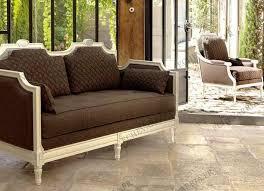 canap 2 places marron canapé de style en tissu 2 places marron trianon echevarria