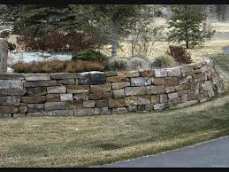 Terraced Retaining Wall Ideas by Flat Stack Rock Retaining Wall Stacked Stone Retaining Wall