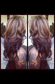 dark hair underneath light on top 130 best hair images on pinterest hair colors chunky highlights