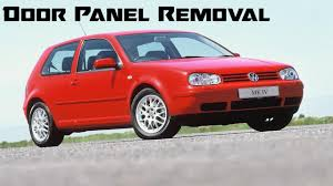 how to take off door panel mk4 golf jetta manual windows youtube