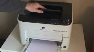 konica minolta magicolor 1650 en colour laser printer review youtube