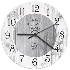 personalised shabby chic kitchen clock the kitchen gift company
