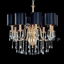 Contemporary Chandelier Contemporary Chandelier Crystal Brass Fabric Giulietta