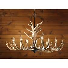 castlecreek 6 light whitetail antler chandelier 226091 lighting