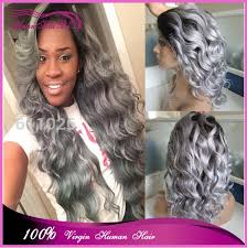 gray hair pieces for american hot selling brazilian virgin hair wig ombre silver grey human hair