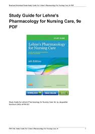 032332259x study guide lehnes pharmacology nursing isbn pdf by