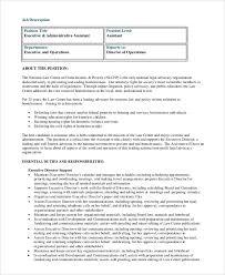 sample administrative assistant job description 8 examples in