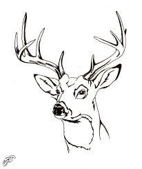 deer head silhouette cool deer head coloring pages coloring