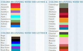 list of colours color ize canada arts connect