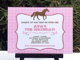 horse themed birthday party invitations oxsvitation com